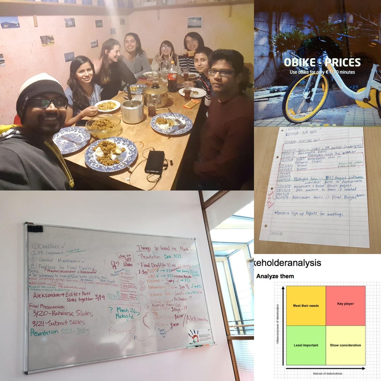和小组一起讨论完成的BBRTF自行车项目管理